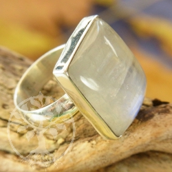 Rainbow Moonstone Silver Ring