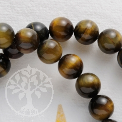 Tigers eye Ball Beads Necklace 50cm