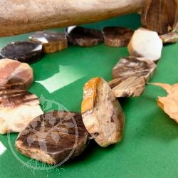 Versteinertes Holz Schmuckperlen Scheiben