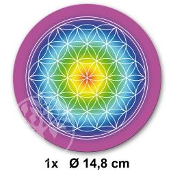 Flower of Life Sticker Rainbow