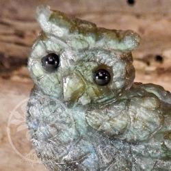 Owl Labradorite Carving