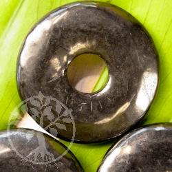 Schungit Donut Anhänger Shungit Scheibe 30mm
