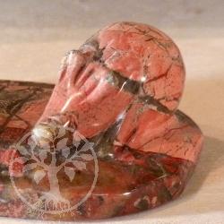 Igel Steinfigur Roter Jaspis