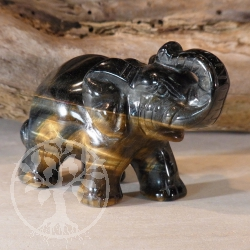 Blue Tiger Eye Figure Elephant