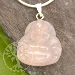 Rosa Quartz Buddha Pendant