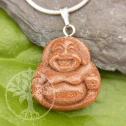 Gold Stone Buddha Pendant