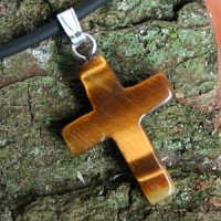 Tiger Eye Cross Pendant small