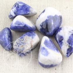Sodalith Handstein eckig weiß/blau A/B