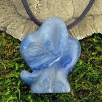 indischer Elefant aus Blauquarz