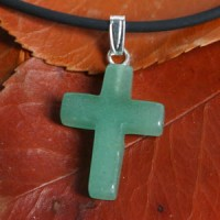 Aventurine Cross Pendant small