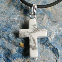 Magnesite Cross Pendant small