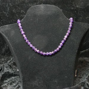 Amethyste Necklace 42-45cm Good Amethyst Bead Quality