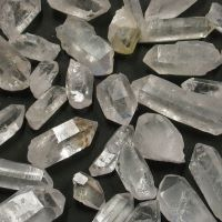 Crystal points natural pieces rough crystal  1/2kg