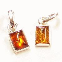 Amber- Silver Pendant M2CO