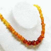 Amber Splitter Necklace gradient 45cm