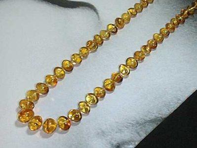 Halskette Charisma gelb Barockkette