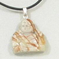 Picasso Jaspis Buddha Gemstone Pendant