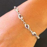 Granat Armband aus echtem Silber BS12P