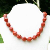 Roter Jaspis Halskette Nuggets