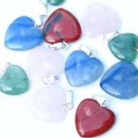 Heart Mini pendant 10 pieces