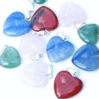 Herz Anhänger Mini Mix 10 Stück