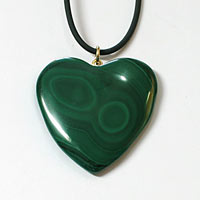 Malachite heart pendants