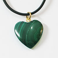 Malachite Hearts Pendants 5 Pieces