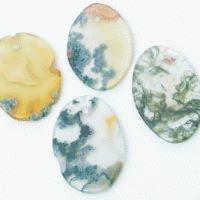 Moosachat Scheiben oval