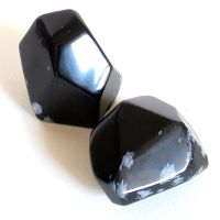 Schneeflocken Obsidian Facettierter Jumbo Stein