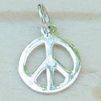 Peace-Zeichen aus echtem Silber