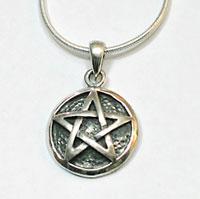 Pentagramm Anhaenger Silber PE50