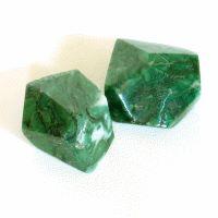 Afrikanische Jade facettierter Stein
