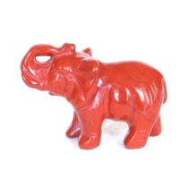 Elefanten Gravur aus rotem Jaspis 39mm Steinelefant