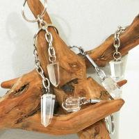 Bergkristall Schlüsselanhänger Kristal-Spitze als  10 Stück