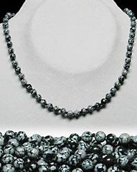 Schneeflocken-Obsidian Kette kurz 42/6