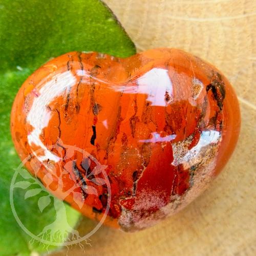 Roter Jaspis Steinherz Herzform-Handschmeichler 35 mm A