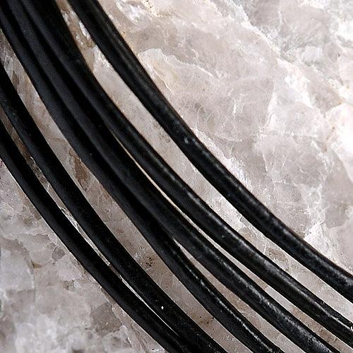 Lederband für Anhänger Standard Schwarz Leder rund 1 Meter 1,5mm Standard