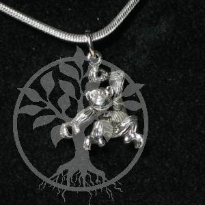 Affe als Anhaenger aus echt Silber