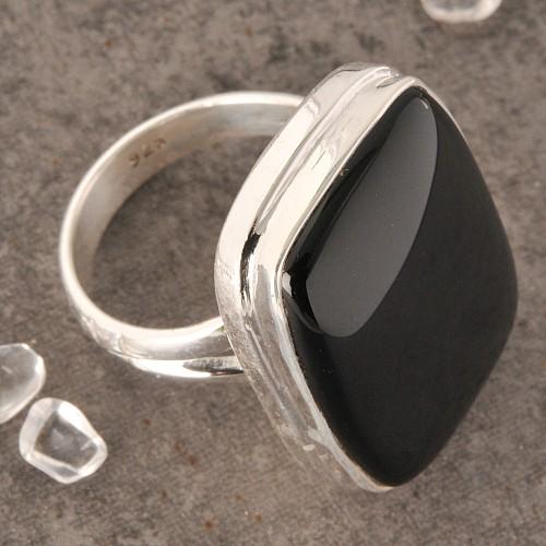 Onyxring Silber Nr005
