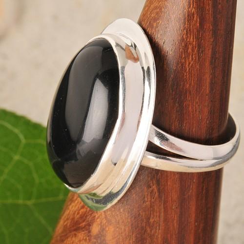 Onyxring Silber Nr006