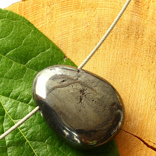 Hämatit  Stein Anhänger A-/B mit Löchern/Rissen natur Hämatinanhänger 20/30mm