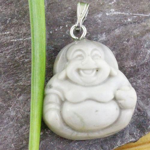 Picasso Jasper Buddha Pendant