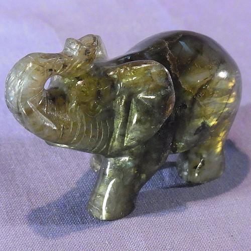 Elefant Labradorit Steinfigur 79