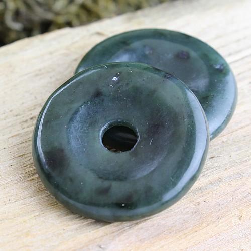 Jade dunkel Donut 30mm Echte Jade Nephrit
