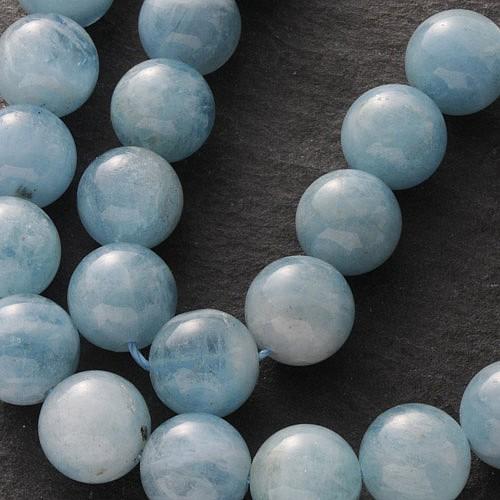 Aquamarin Perlen Kugel AA 10 mm