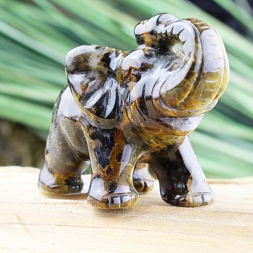 Unikat Elefant Tigerauge