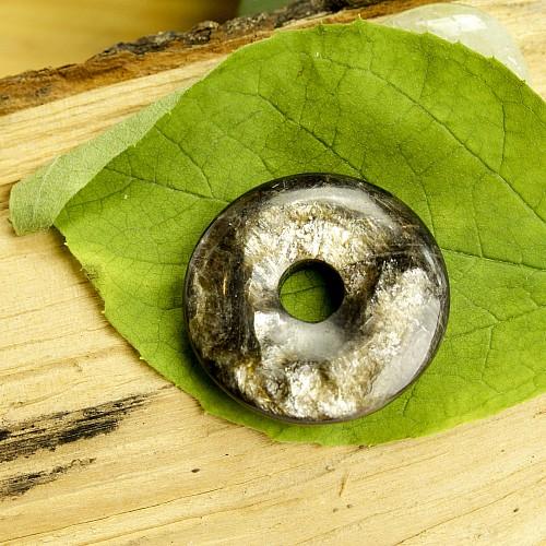 Golden Mica Donut pendant