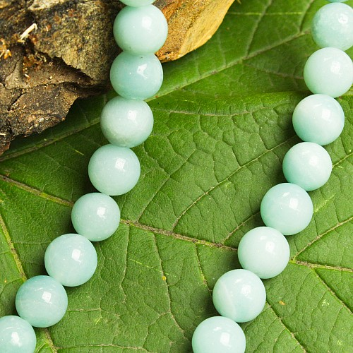 Amazonit Perlen chinesisch 8 mm Edelsteinperlen