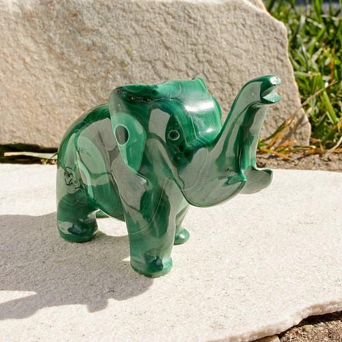 Malachit Elefantenfigur 010