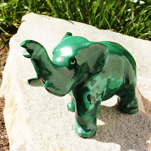 Malachit Elefantenfigur 005